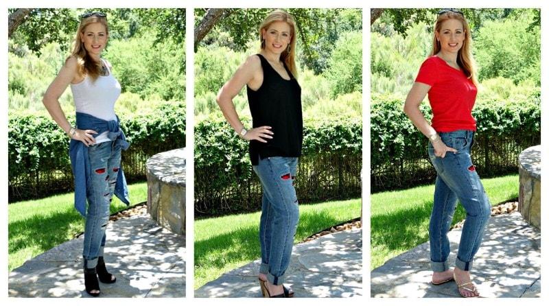 boyfriend jeans collage