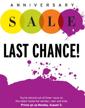 Last Chance for Nordstrom Sale!