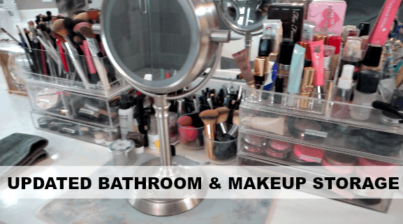 Master Bathroom Refresh & Makeup Storage