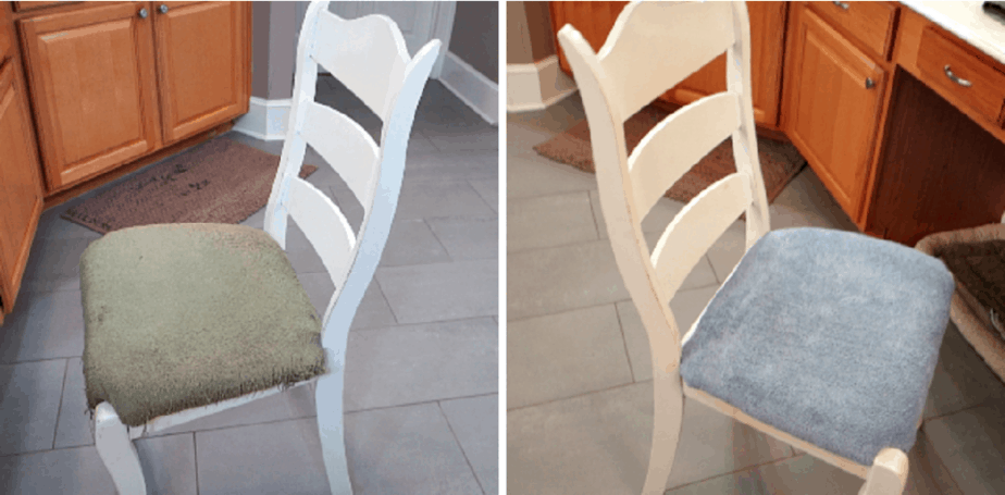 New recovered chairs