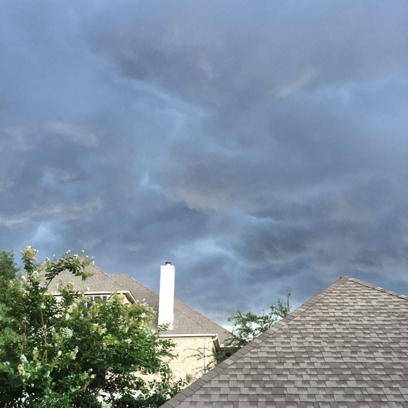 Strange weather over San Antonio