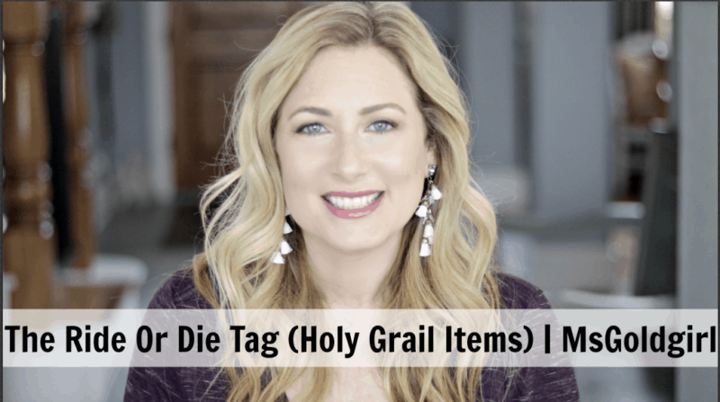 The Ride Or Die (Holy Grail) Tag