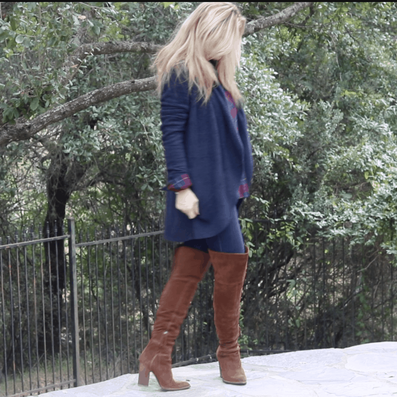 Barefoot Dreams Cardigan Dolce Vita Over The Knee Boots MsGoldgirl