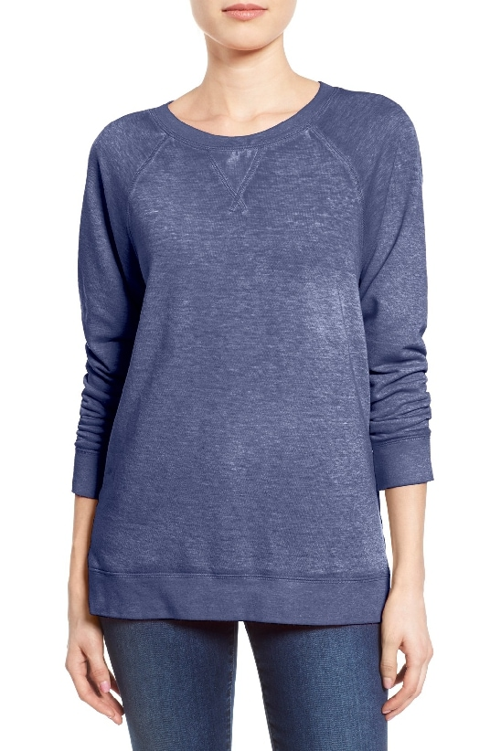 The Caslon Burnout Sweatshirt came in at #2 on the Top Sellers of 2016 list on MsGoldgirl.