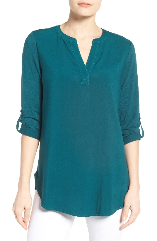 Pleione Split Neck Mixed Media Tunic is #5 on the Top Sellers of 2016 on MsGoldgirl list.