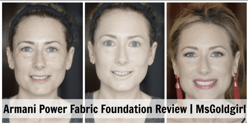 REVIEW: Giorgio Armani Beauty Power Fabric Foundation