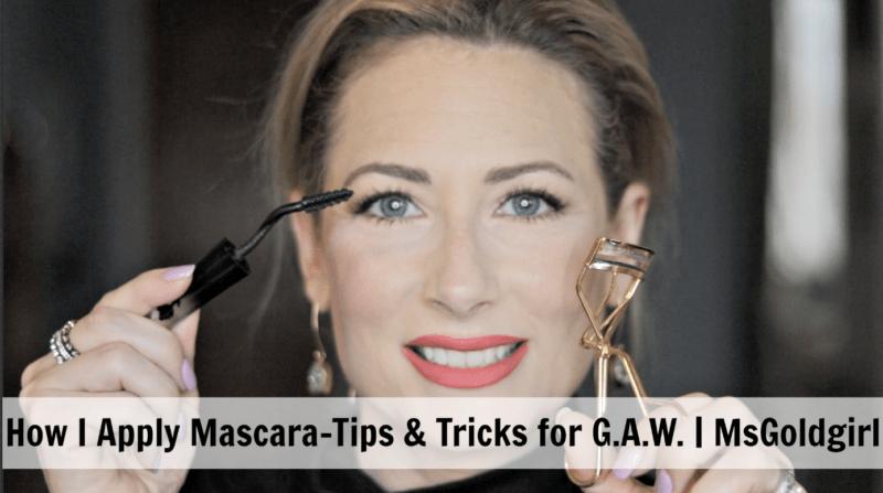 How I Apply Mascara-Tips & Tricks