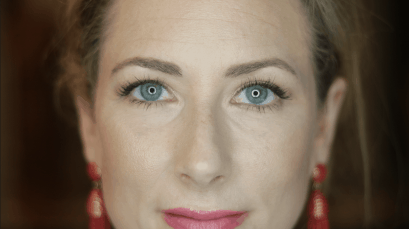 Close up of face with Armani Power Fabric Foundation