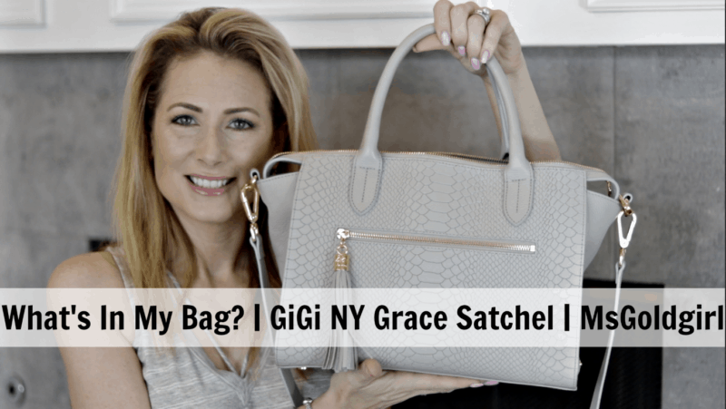 What's In My Bag | GiGi New York Grace Satchel